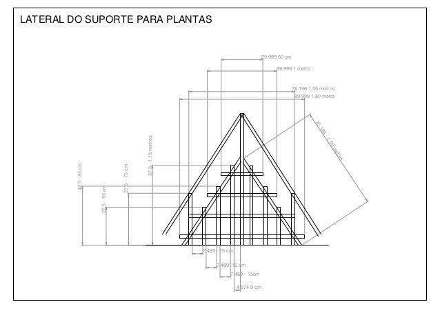Modelo de suporte para plantas visão lateral