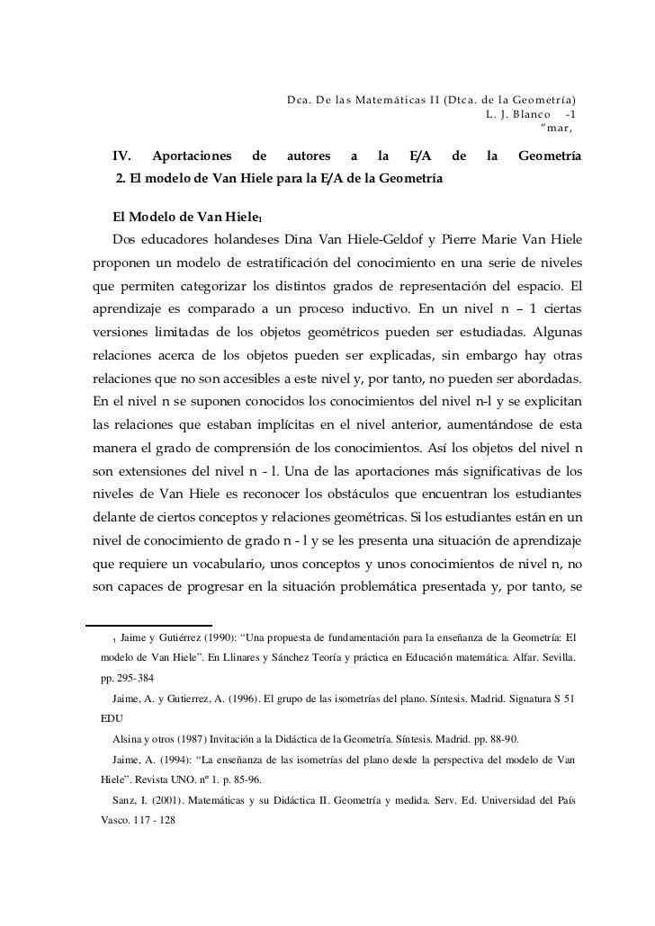 Dca. De las Matemáticas II (Dtca. de la Geometría)                                                                        ...