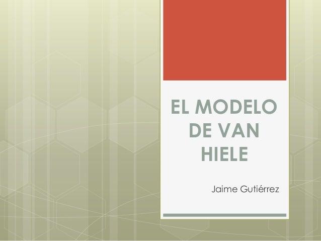 EL MODELODE VANHIELEJaime Gutiérrez