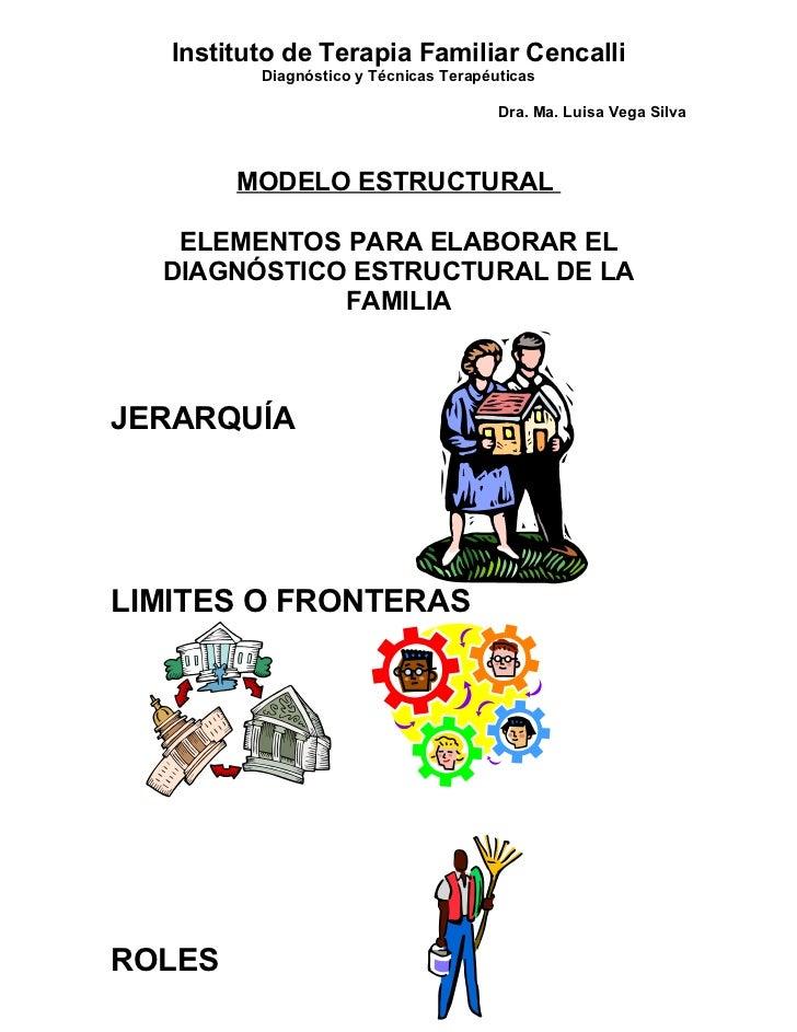 Instituto de Terapia Familiar Cencalli          Diagnóstico y Técnicas Terapéuticas                                       ...