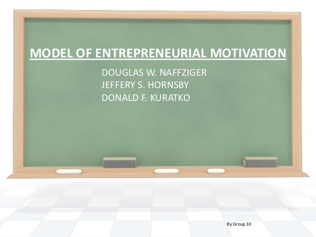 Model of entrepreneurial motivation