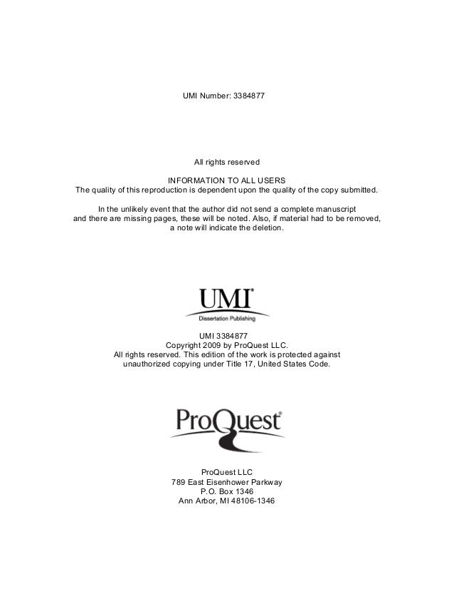 Dissertation consulting service umi
