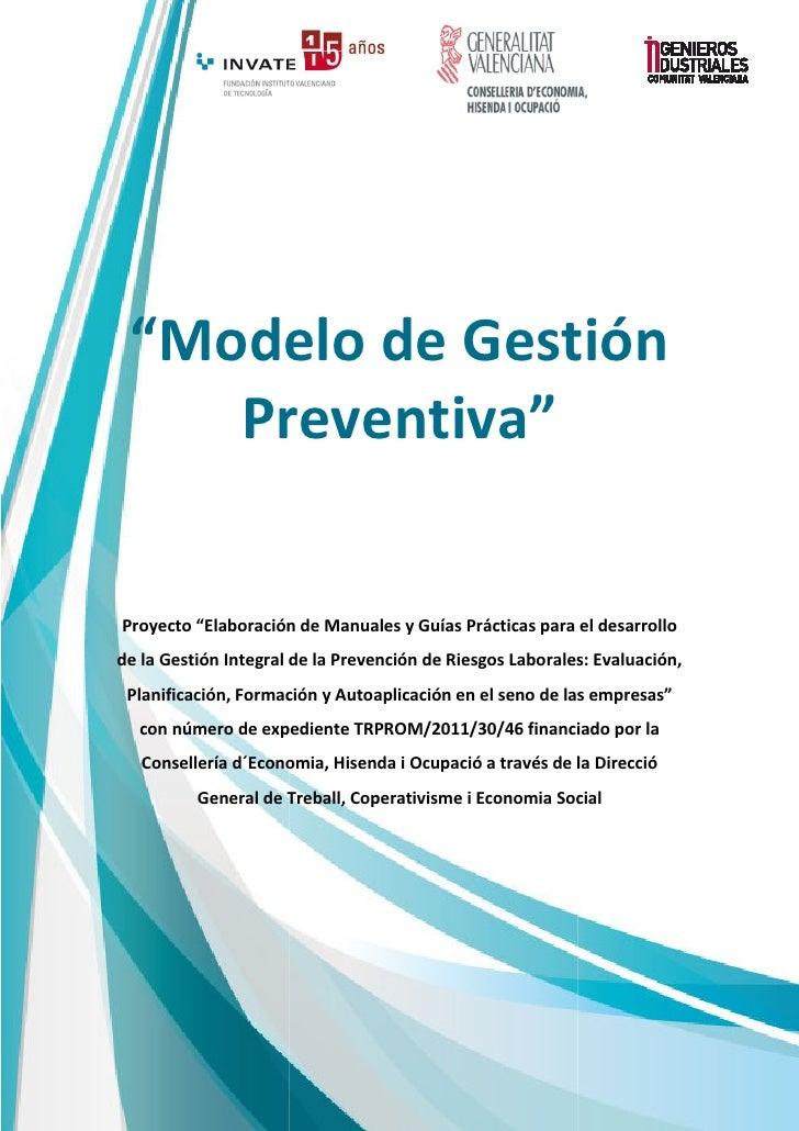 Modelo gestion preventiva