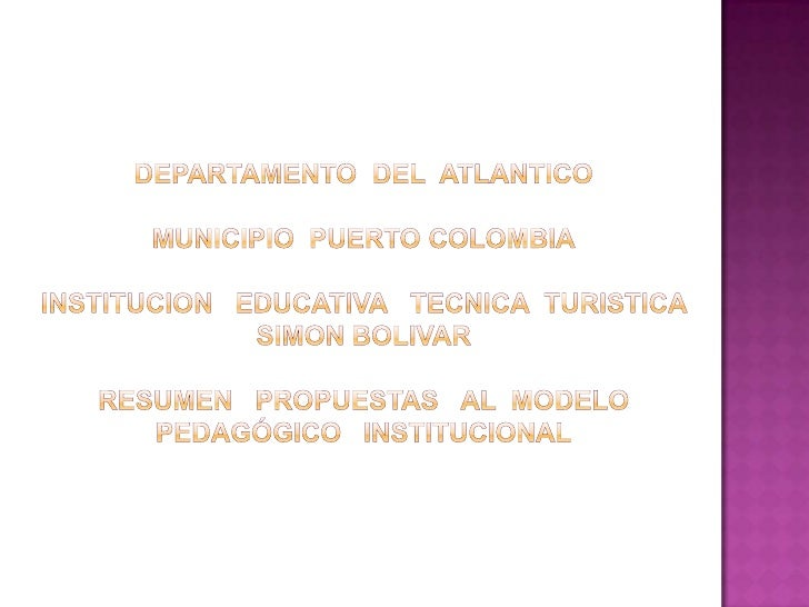 Modelo PedagóGico Bolivariano.