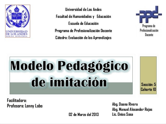 Universidad de Los Andes                        Facultad de Humanidades y Educación                                 Escuel...