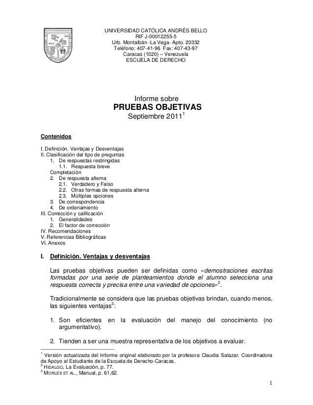 UNIVERSIDAD CATÓLICA ANDRÉS BELLORIF J-00012255-5Urb. Montalbán -La Vega- Apto. 20332Teléfono: 407-41-96 Fax: 407-43-97Car...