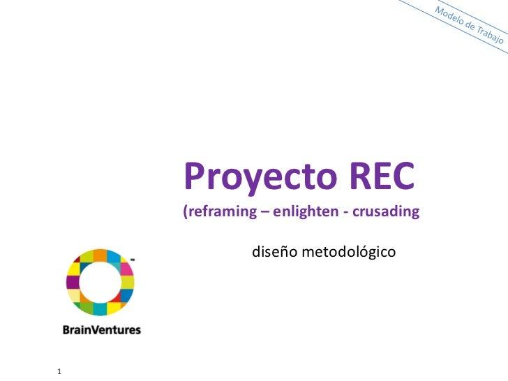 Proyecto REC    (reframing – enlighten - crusading             diseño metodológico1