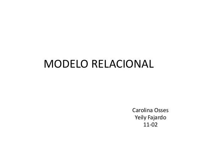 MODELO RELACIONAL Carolina Osses Yeily Fajardo 11-02