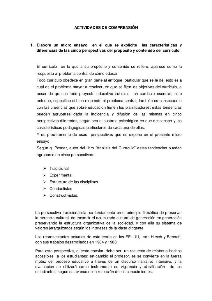 ACTIVIDADES DE COMPRENSIÓN1. Elabore un micro ensayo en el que se explicite las características y   diferencias de las cin...