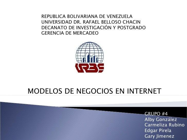 REPUBLICA BOLIVARIANA DE VENEZUELA UNIVERSIDAD DR. RAFAEL BELLOSO CHACIN DECANATO DE INVESTIGACIÓN Y POSTGRADO GERENCIA DE...