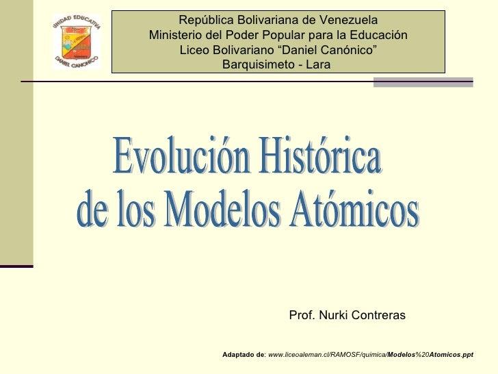 Modelos Atomicos Nurki