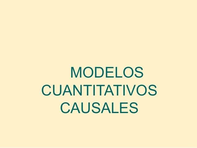 Modelos causales