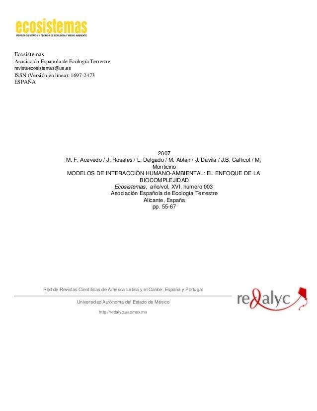 EcosistemasAsociación Española de Ecología Terrestrerevistaecosistemas@ua.esISSN (Versión en línea): 1697-2473ESPAÑA2007M....