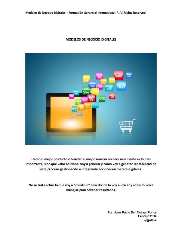 Modelos de negocio digitales 2014