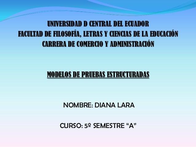 UNIVERSIDAD D CENTRAL DEL ECUADORFACULTAD DE FILOSOFÍA, LETRAS Y CIENCIAS DE LA EDUCACIÓNCARRERA DE COMERCIO Y ADMINISTRAC...