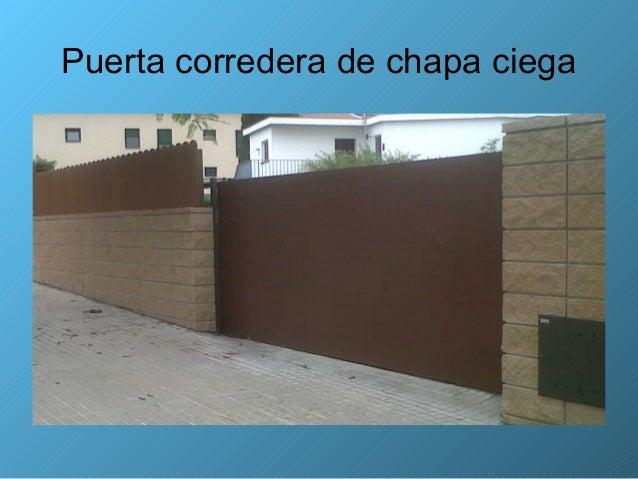Puerta corredera metalica exterior beautiful puerta - Puerta corredera metalica ...