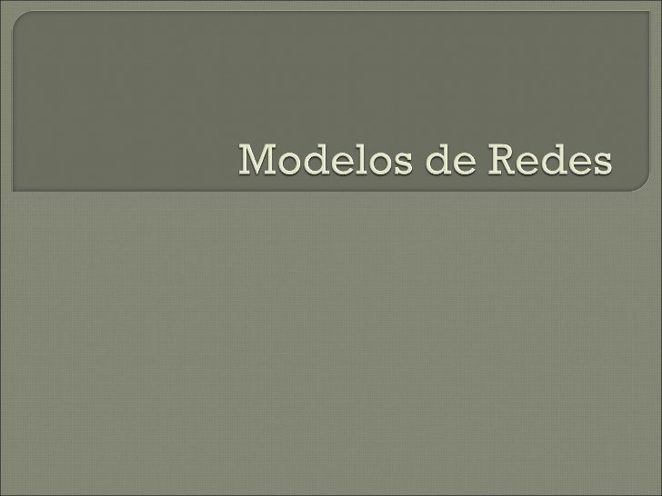 Modelos de redes [Investigación de Operaciones]