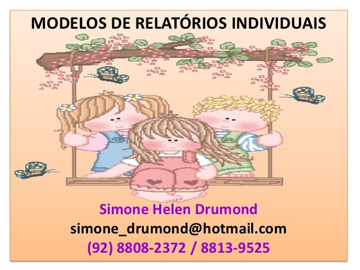 Modelos de relatórios de alunos simone helen drumond