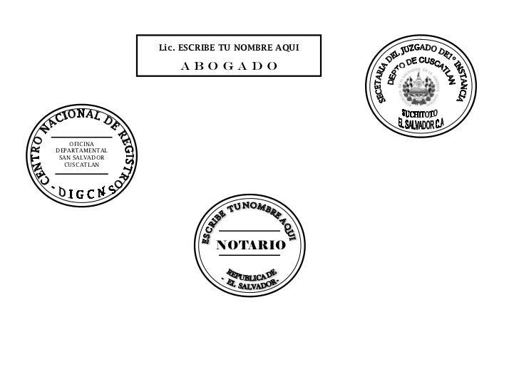 Modelos de sellos abogado notario