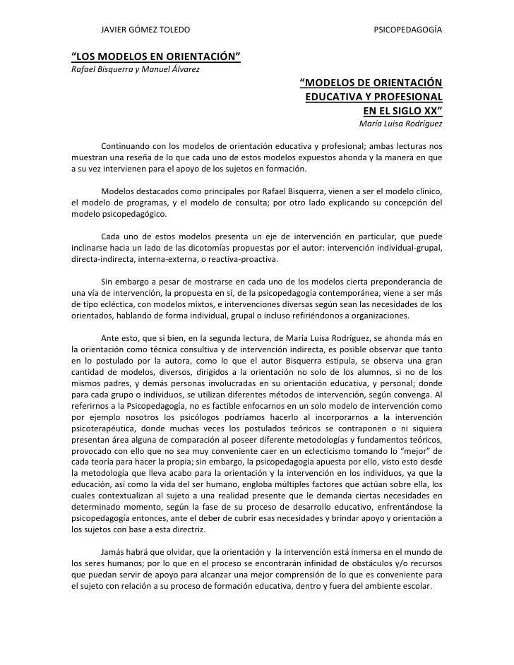 JAVIER GÓMEZ TOLEDO                                                                                        PSICOPEDAGOGÍA<...