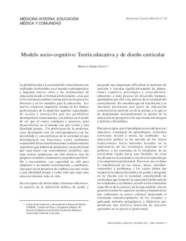 MEDICINA INTERNA, EDUCACIÓN                                                                   Med Interna PATIÑO2006;22(1)...