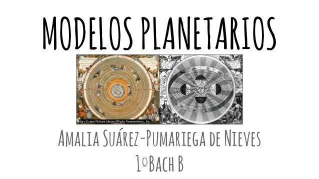 MODELOS PLANETARIOS Amalia Suárez-Pumariega de Nieves 1ºBach B