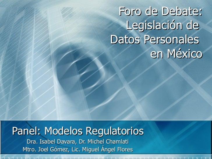 Modelos Regulatorios de Protección de Datos Personales