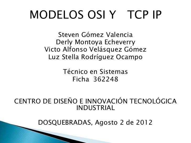 Modelos tcp ip   y modelo osi