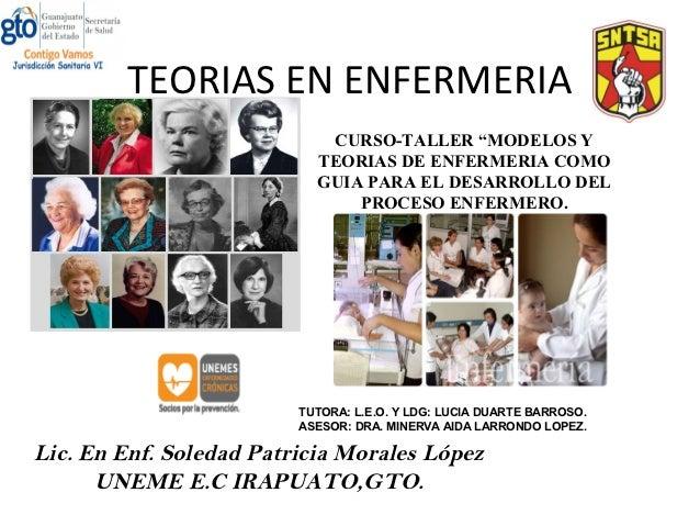 """TEORIAS EN ENFERMERIA                            CURSO-TALLER """"MODELOS Y                           TEORIAS DE ENFERMERIA C..."""