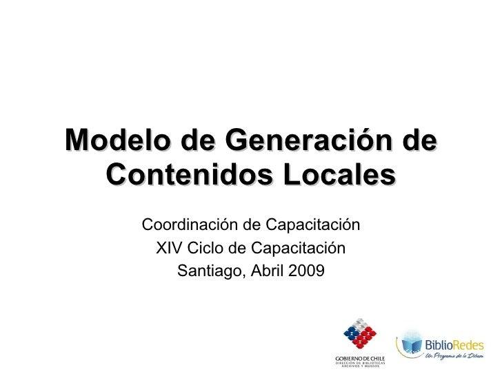 Modelo  Taller  Creación De  Contenidos  Locales 2009