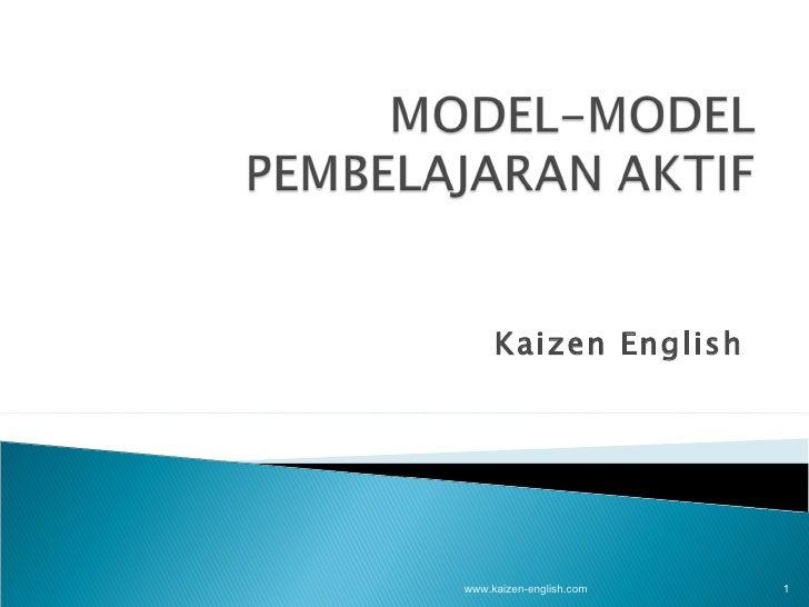 Model pembelajaran aktif (Kaizen English)