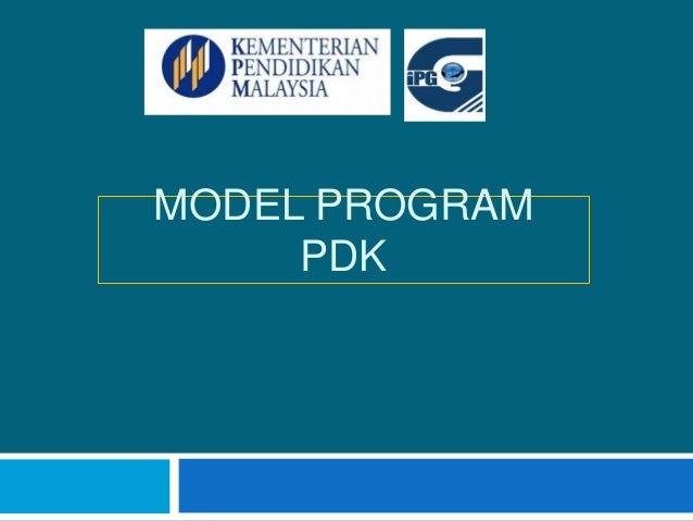 MODEL PROGRAM  PDK