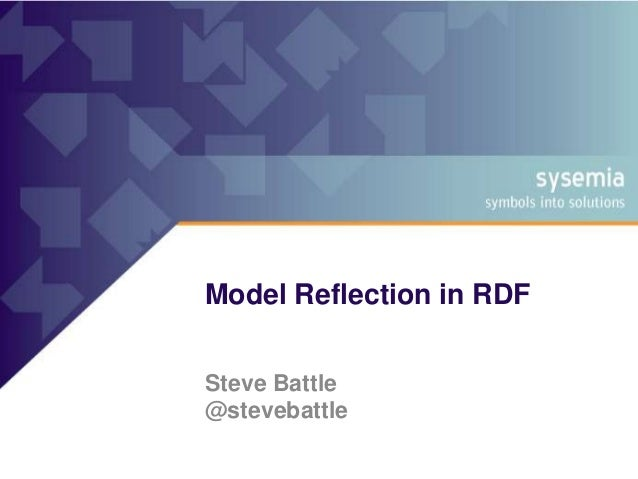 Ecore Model Reflection in RDF