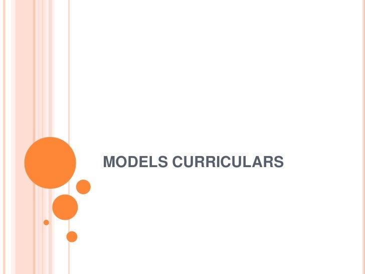 MODELS CURRICULARS