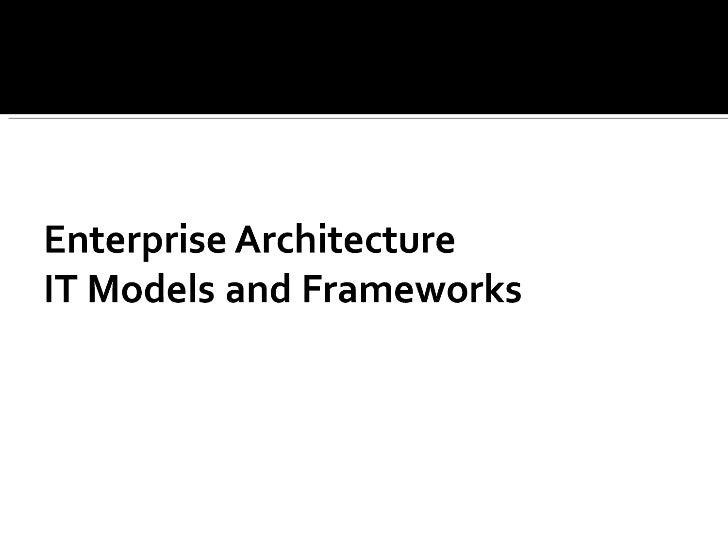 Models And Frameworks