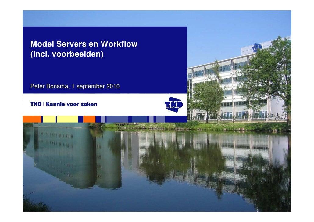 Model Servers en Workflow (incl. voorbeelden)   Peter Bonsma, 1 september 2010