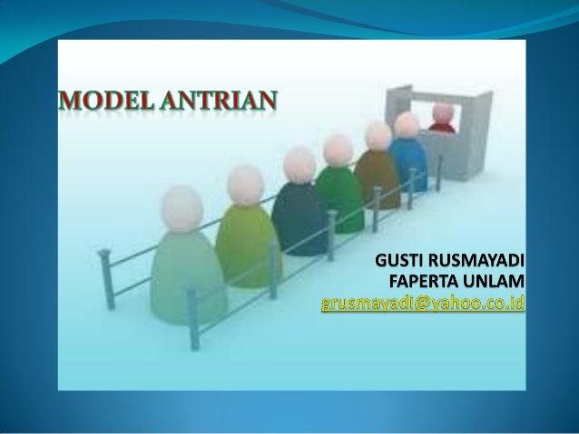 Model simulasi antrian gtr
