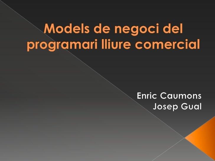  Què és el programari lliure  Llicències del software  Què és el programari privatiu  Models de negoci del programari ...