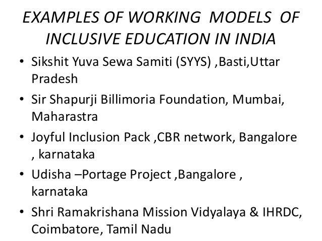 models of inclusive education pdf