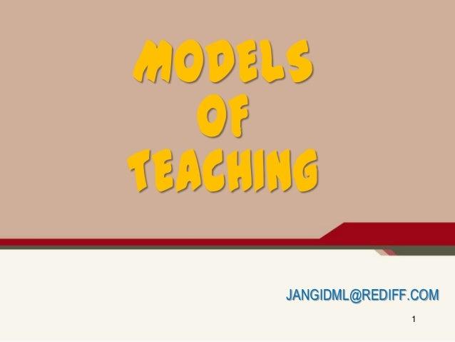 Models of teaching   jangid ml