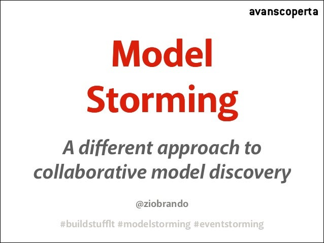 avanscoperta  Model Storming A different approach to collaborative model discovery @ziobrando #buildstufflt #modelstorming #e...