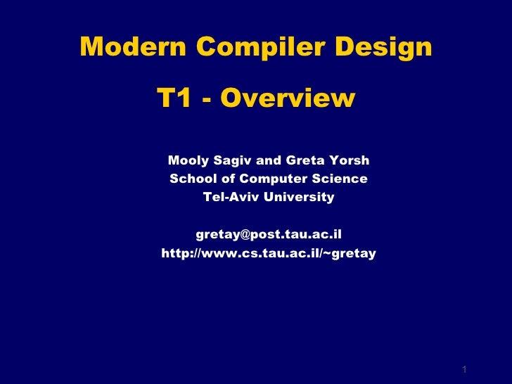 Mooly Sagiv and Greta Yorsh School of Computer Science Tel-Aviv University [email_address] http://www.cs.tau.ac.il/~gretay...