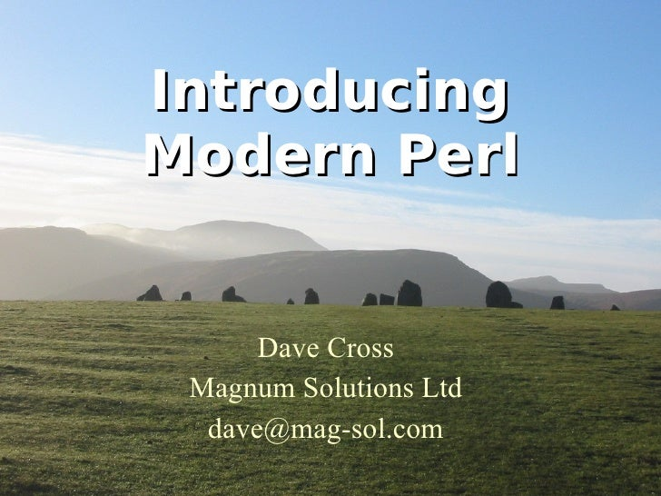 Introducing Modern Perl