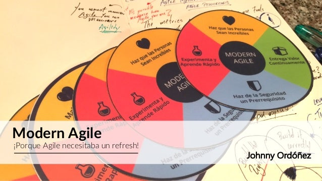 Modern Agile ¡Porque Agile necesitaba un refresh! Johnny Ordóñez