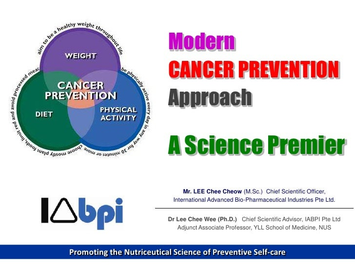 Modern cancer prevention approach