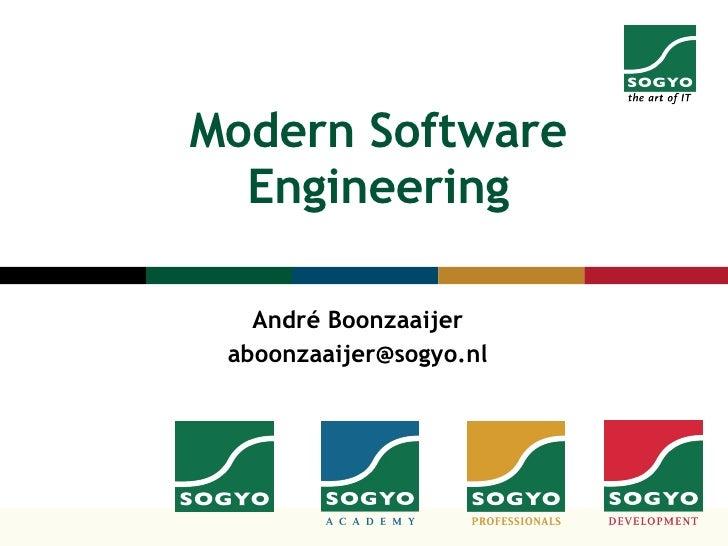 Moderne Software Engineering