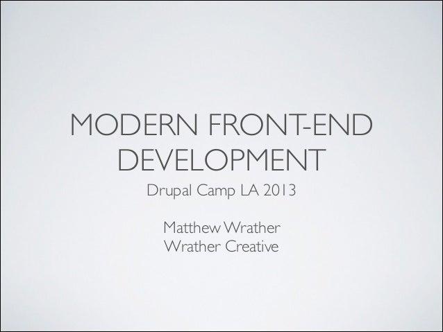 Modern Front-End Development