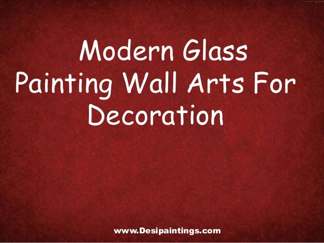 Modern Glass Painting Wall Arts For Decoration