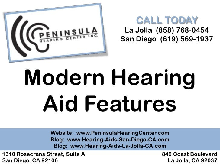 Modern Hearing Aid Features