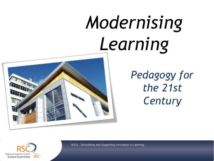 Modernising Learning